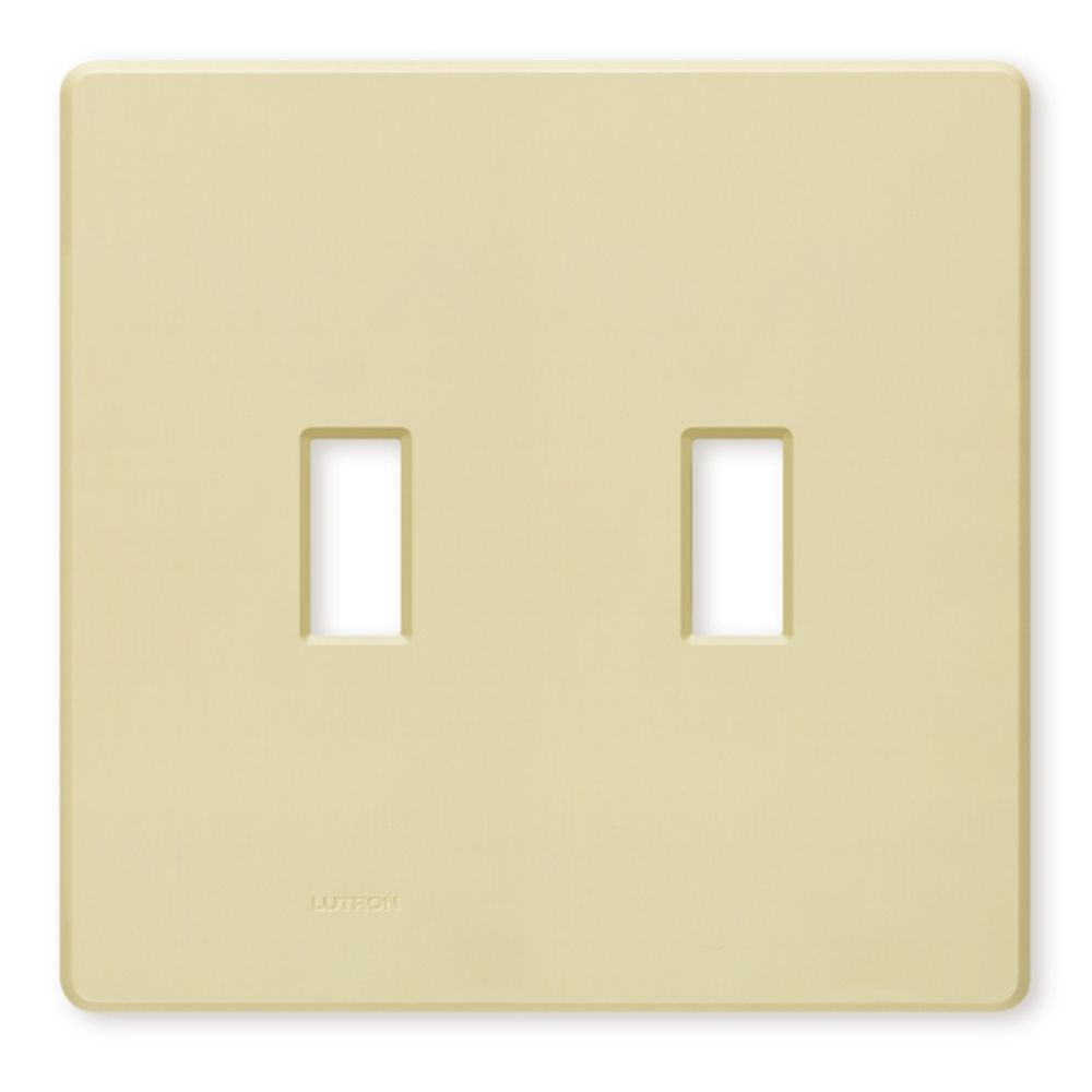 switch plate covers wall plate in ivory finish fw 2 iv. Black Bedroom Furniture Sets. Home Design Ideas