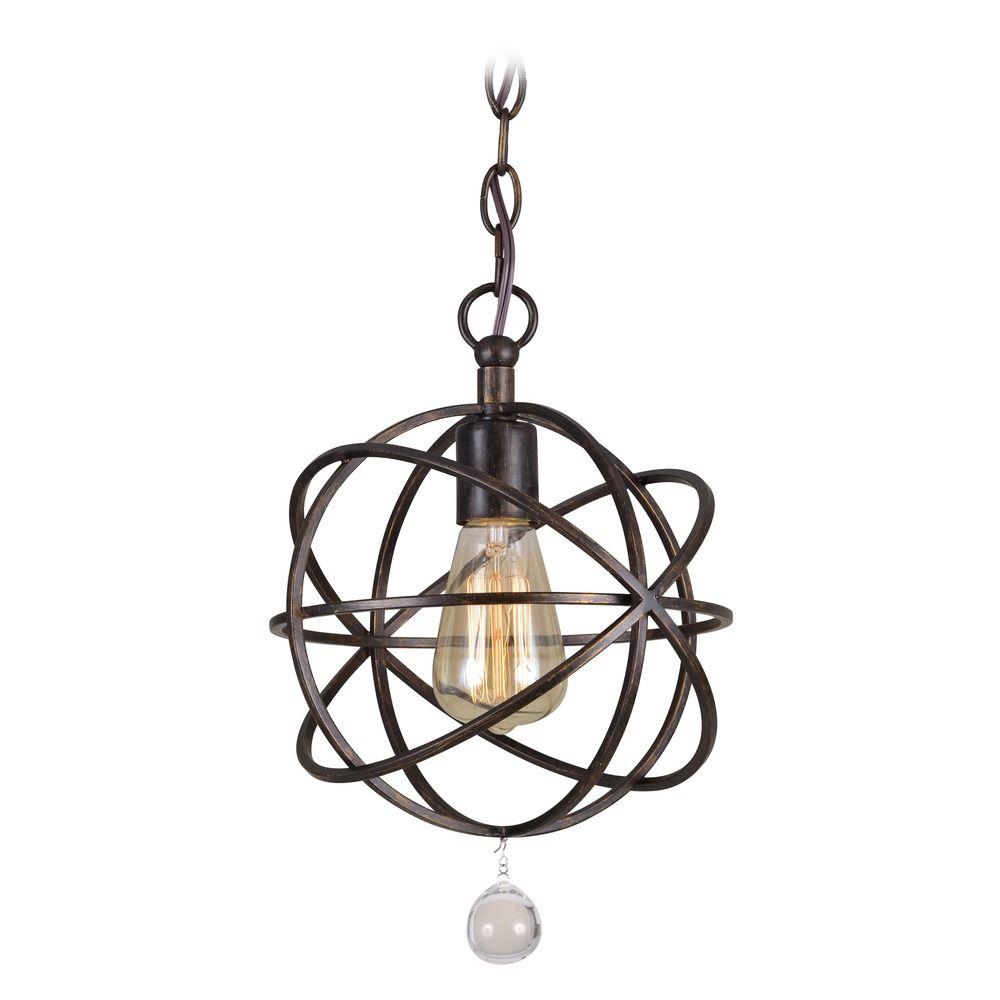 Crystorama Lighting Solaris English Bronze Mini-Pendant