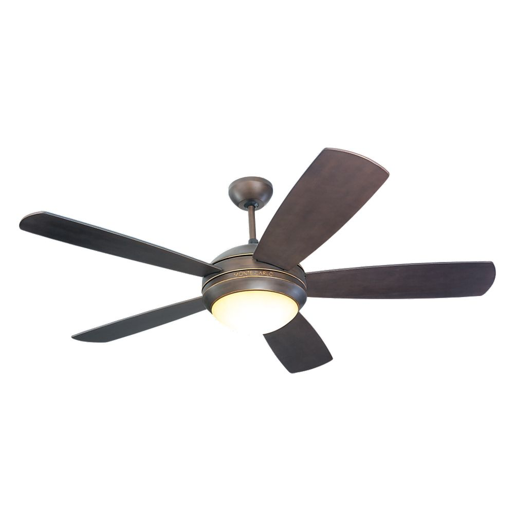 Modern Ceiling Fan With Light With Opal Glass Fan Light