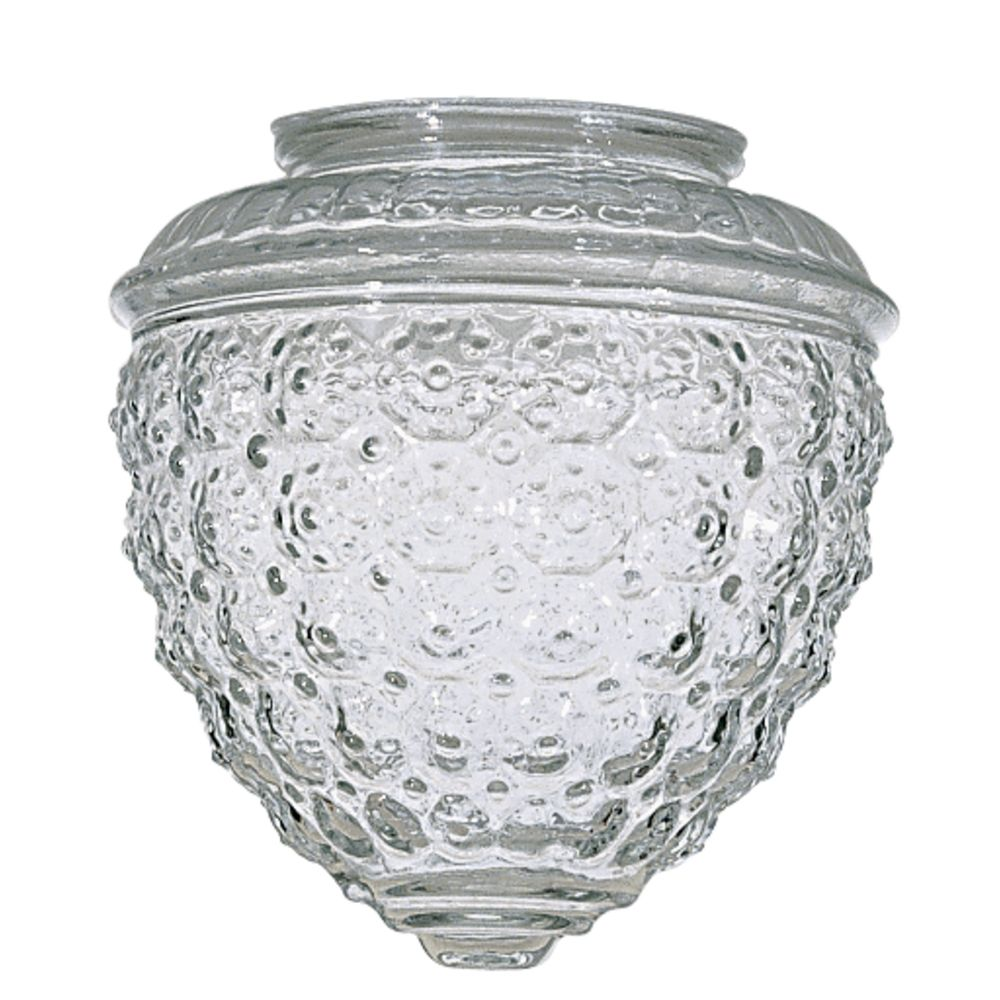 Clear pineapple glass shade 3 14 inch fitter opening 50 112 hover or click to zoom arubaitofo Choice Image