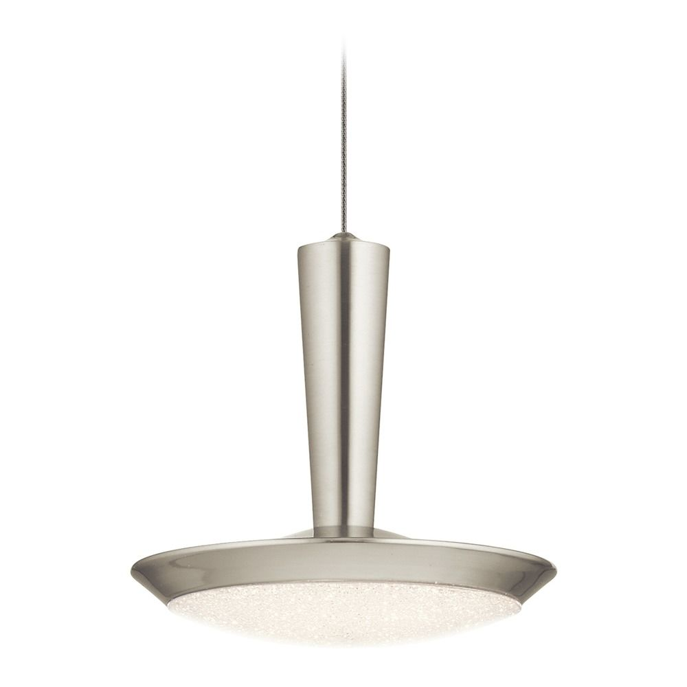 lighting elan lighting karah brushed nickel led mini pendant light