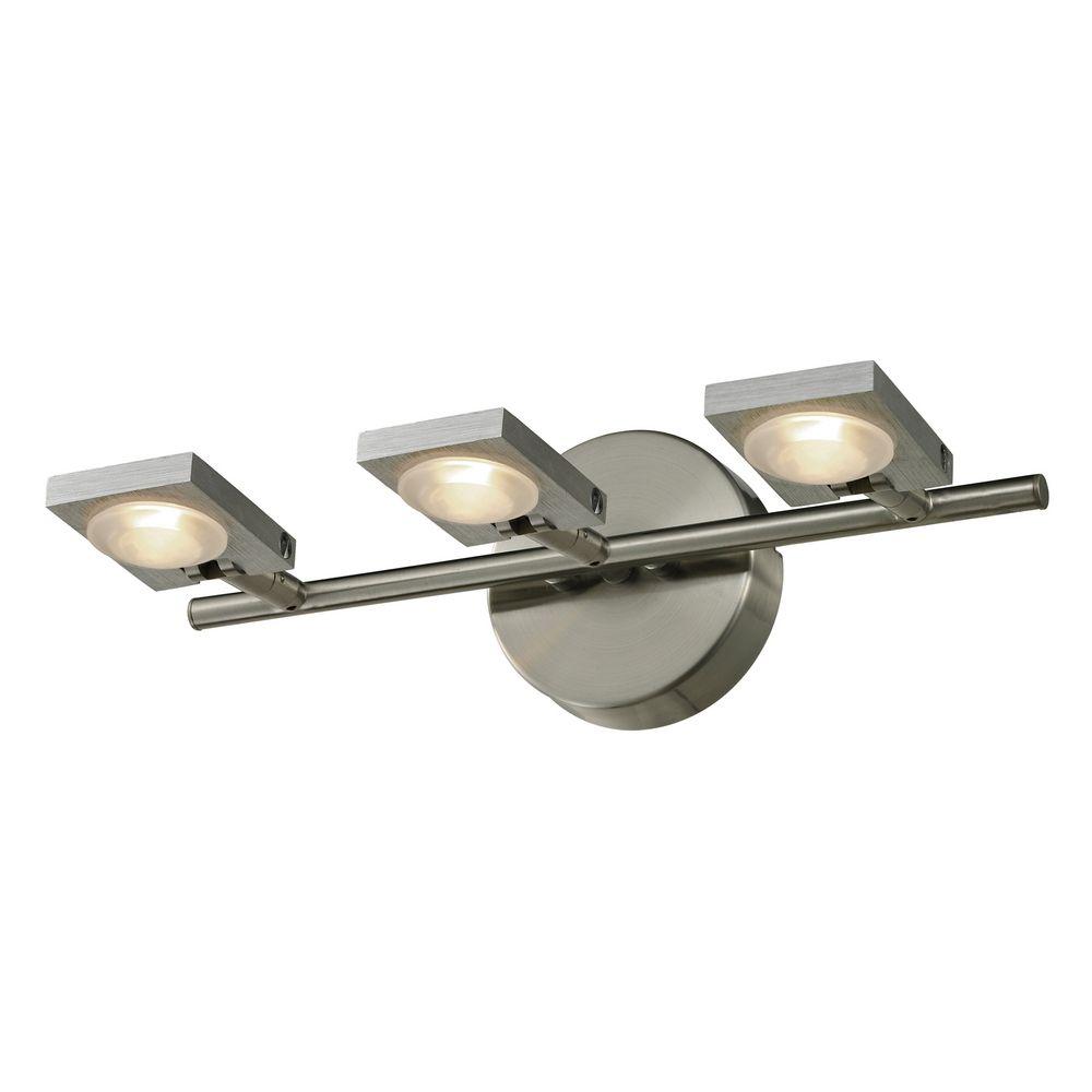 Modern Led Bathroom Light In Brushed Nickel Brushed Aluminum Finish 54012 3 Destination Lighting