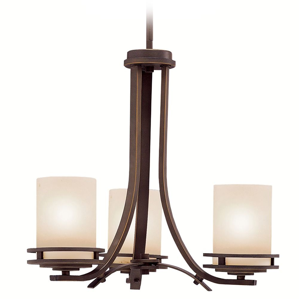 Lighting bronze finish : Kichler modern mini chandelier in bronze finish oz