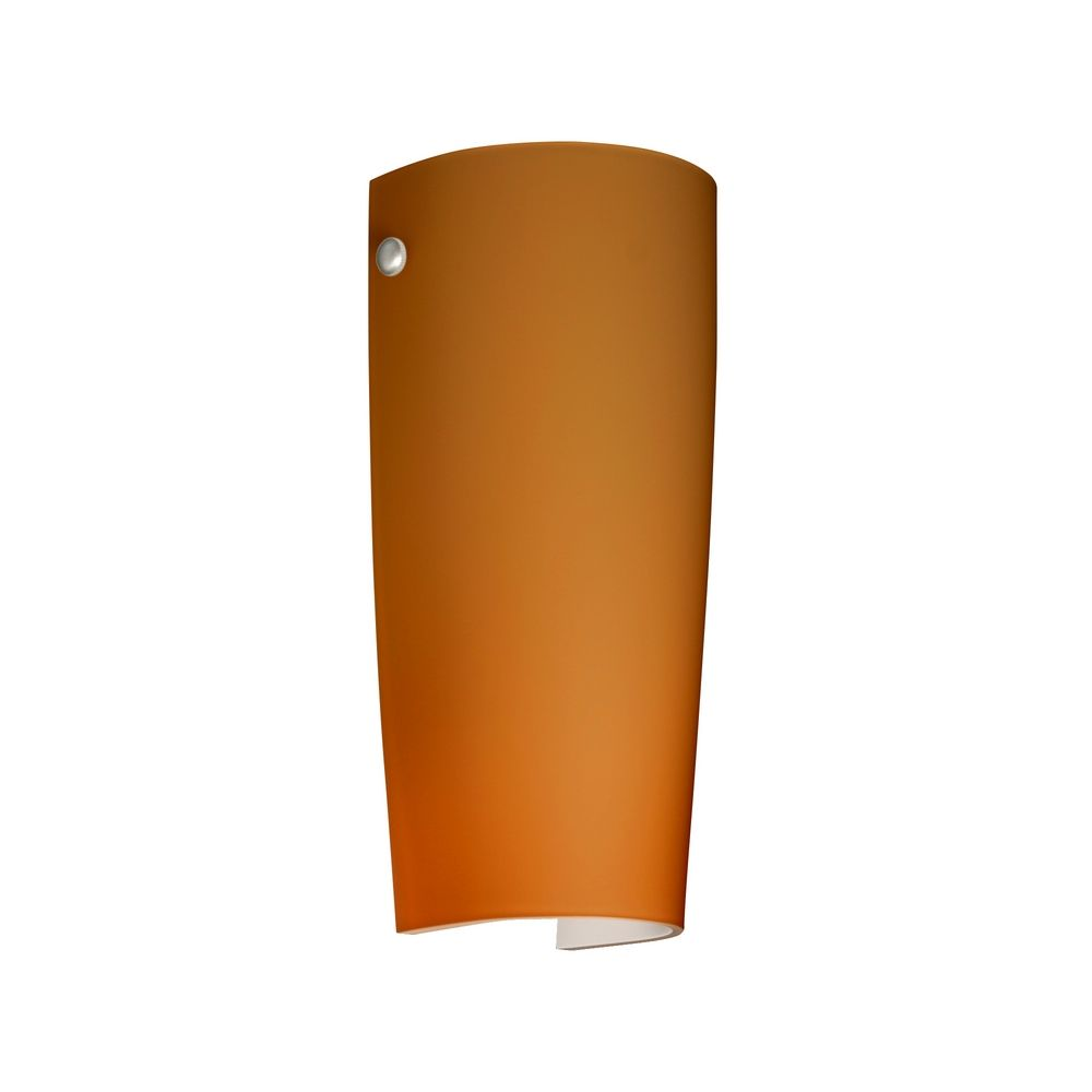 Amber Glass Wall Lights : Sconce Wall Light with Amber Glass in Polished Nickel Finish 704180-PN Destination Lighting