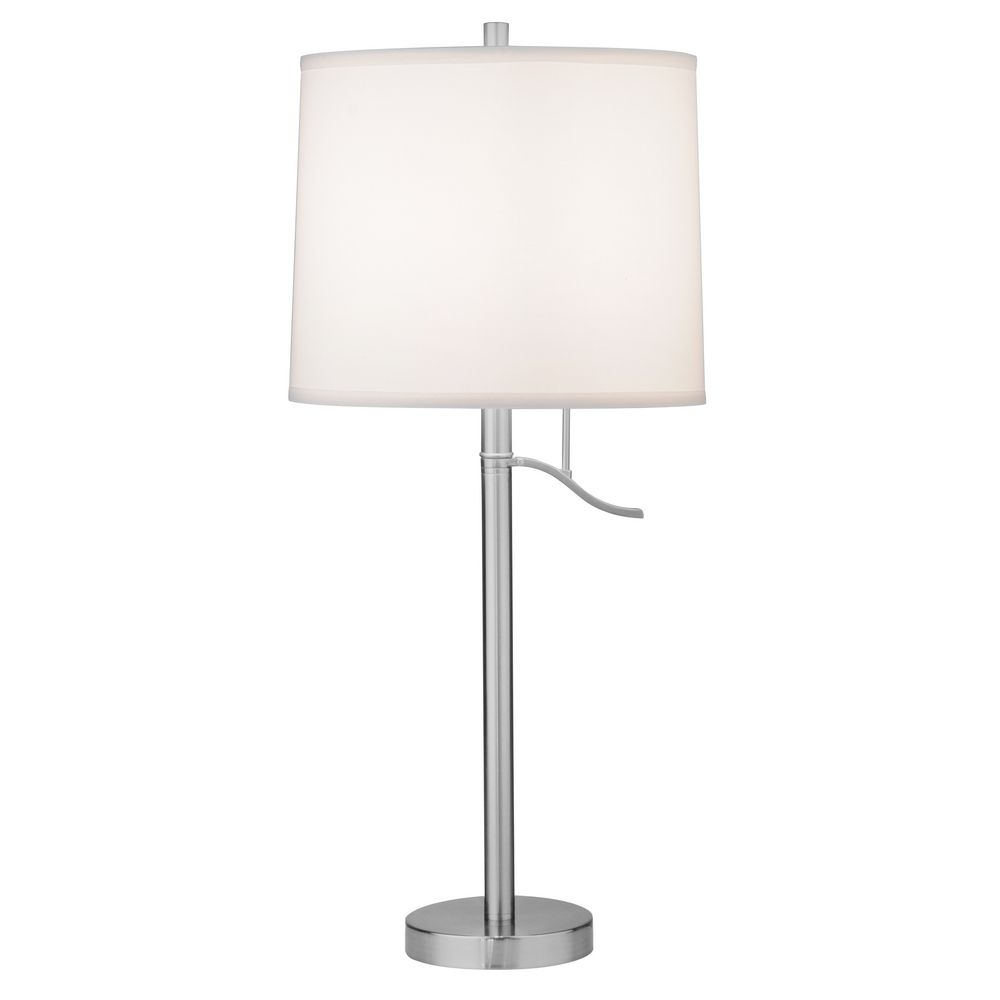 Satin Nickel Table Lamp Shade Not Included Dcl M6729 09