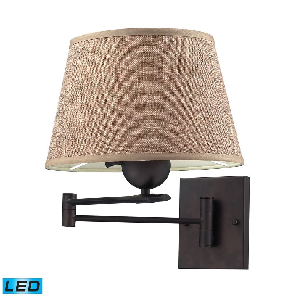 elk lighting swingarms aged bronze led swing arm lamp