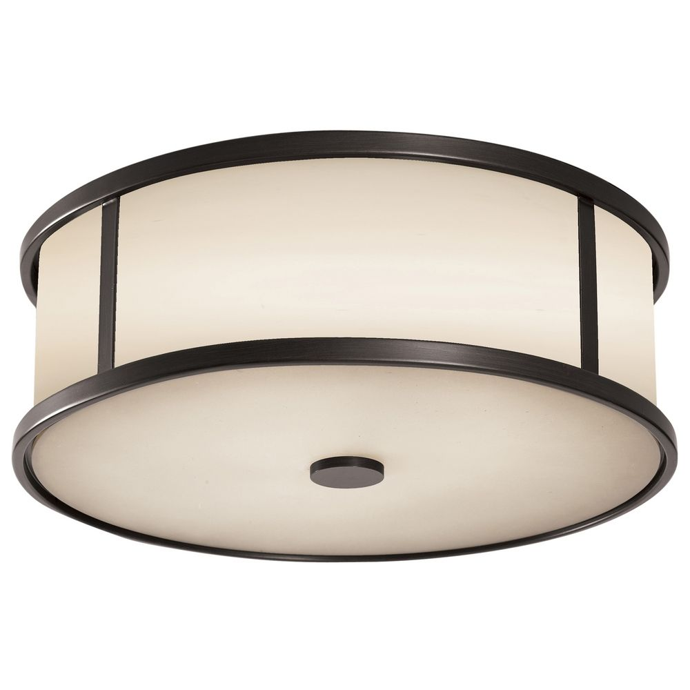 Close To Ceiling Modern Lights : Modern close to ceiling light with white glass in espresso