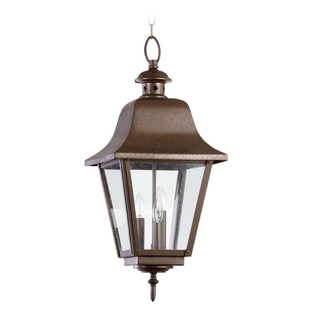 Quorum lighting bishop oiled bronze outdoor hanging light 7031 3 hover or click to zoom aloadofball Gallery