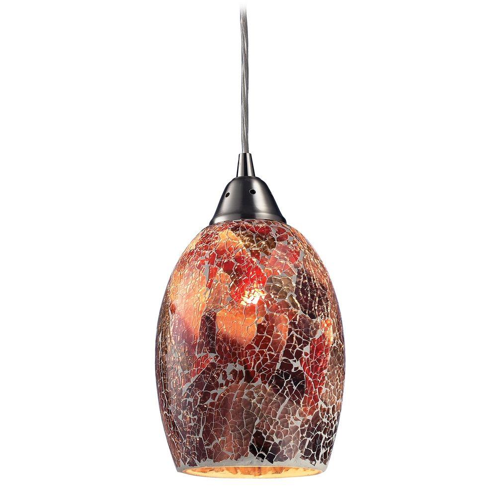 Modern mini pendant light with multi color glass 73031 1 - Colored glass pendant lights ...