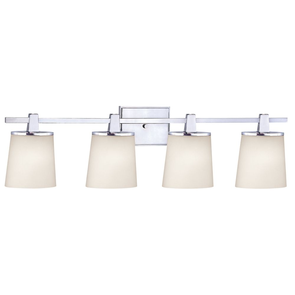 Chrome Bathroom Light with White Glass in Chrome Finish  3784-26 ...