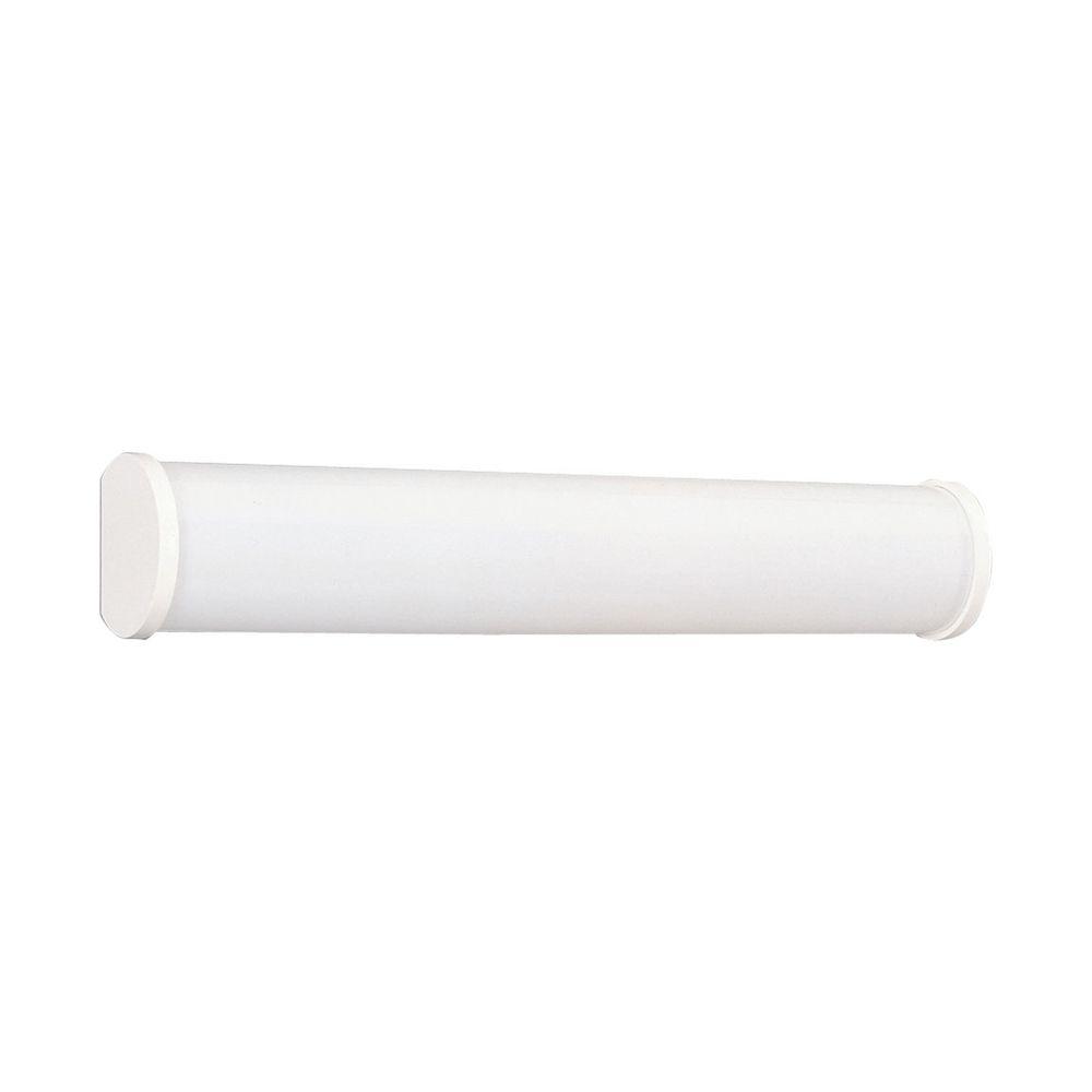 Linear fluorescent bath white bathroom light vertical or horizontal mounting p7094 30eb - Bathroom fluorescent light covers ...