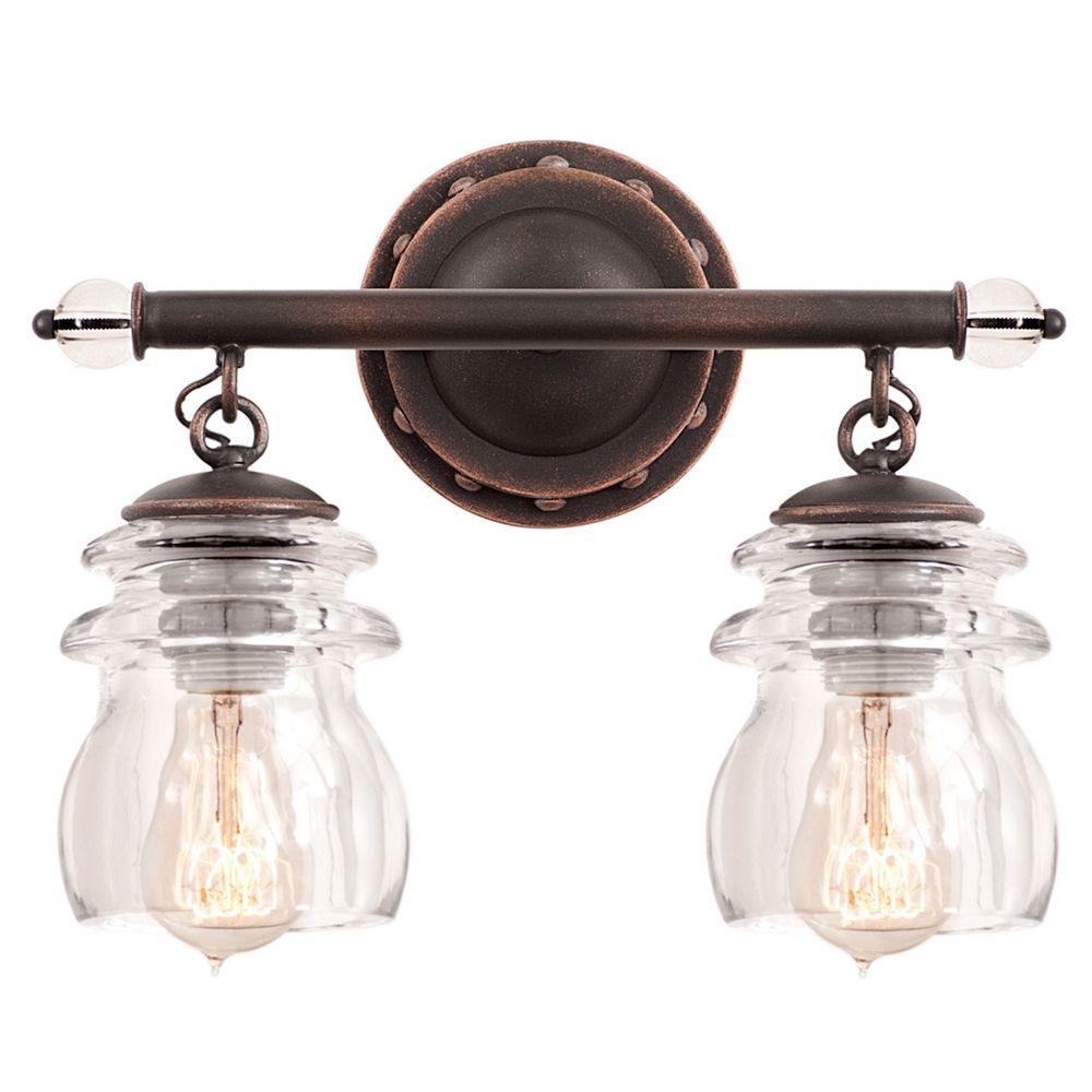 Kalco lighting brierfield antique copper bathroom light 6312ac destination lighting for Copper bathroom light fixtures