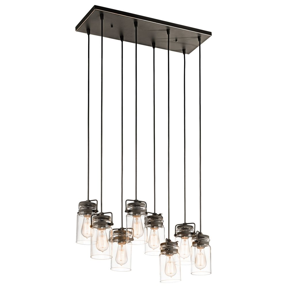 Design Multiple Pendant Lights multi light pendants destination lighting kichler brinley olde bronze pendant with cylindrical shade