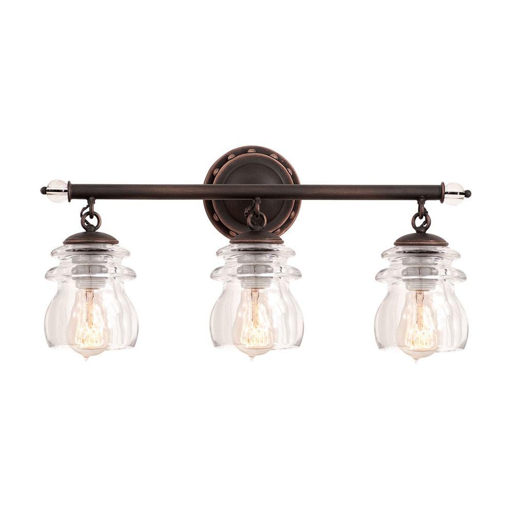 Comvintage Bathroom Lights : Kalco Lighting Kalco Lighting Brierfield Antique Copper Bathroom Light ...