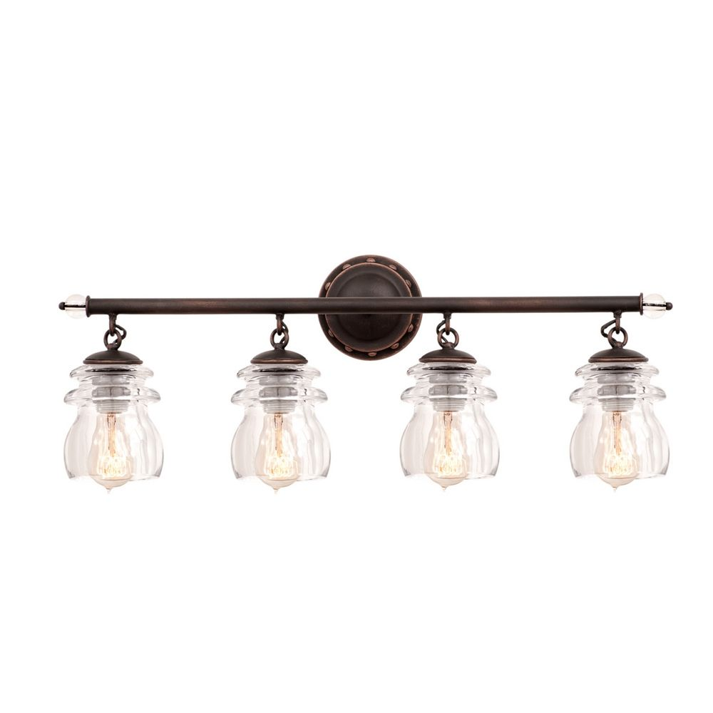 Kalco lighting brierfield antique copper bathroom light 6314ac destination lighting for Copper bathroom light fixtures