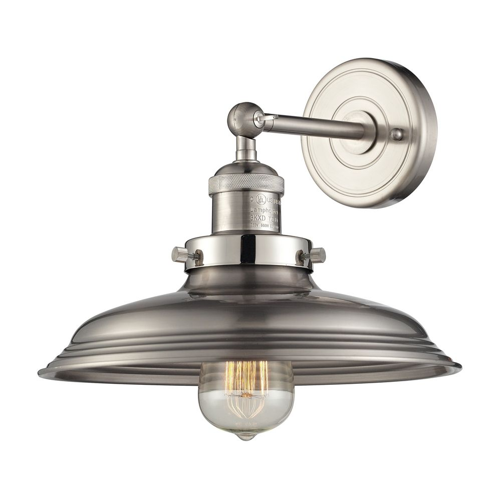 Wall Lights Nickel : Sconce Wall Light in Satin Nickel Finish 55020/1 Destination Lighting