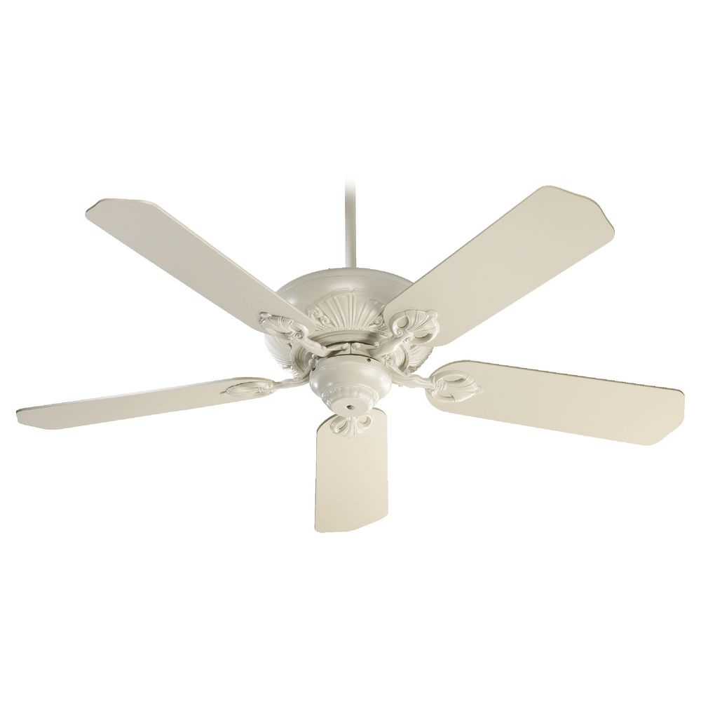 Quorum Lighting Chateaux Antique White Ceiling Fan Without