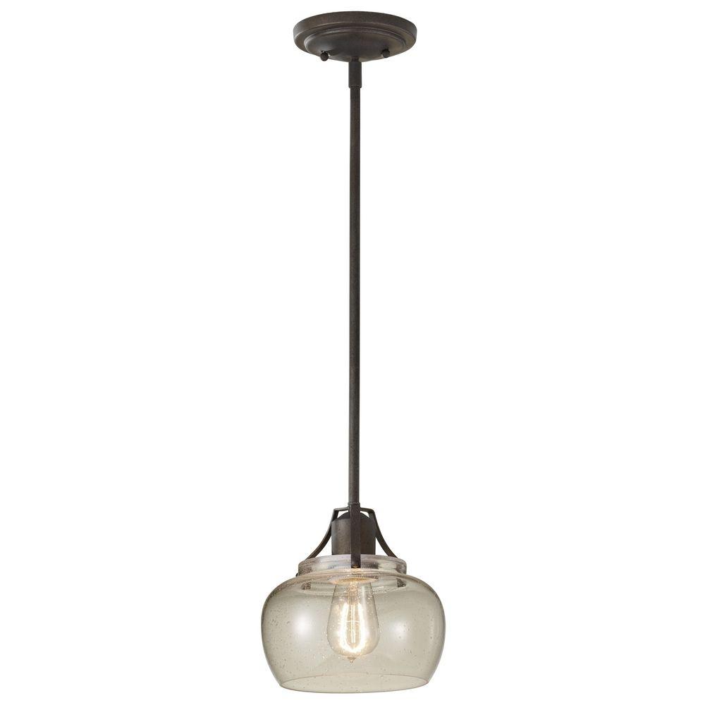 Murray Feiss P1234ri: Seeded Glass Mini Pendant Light