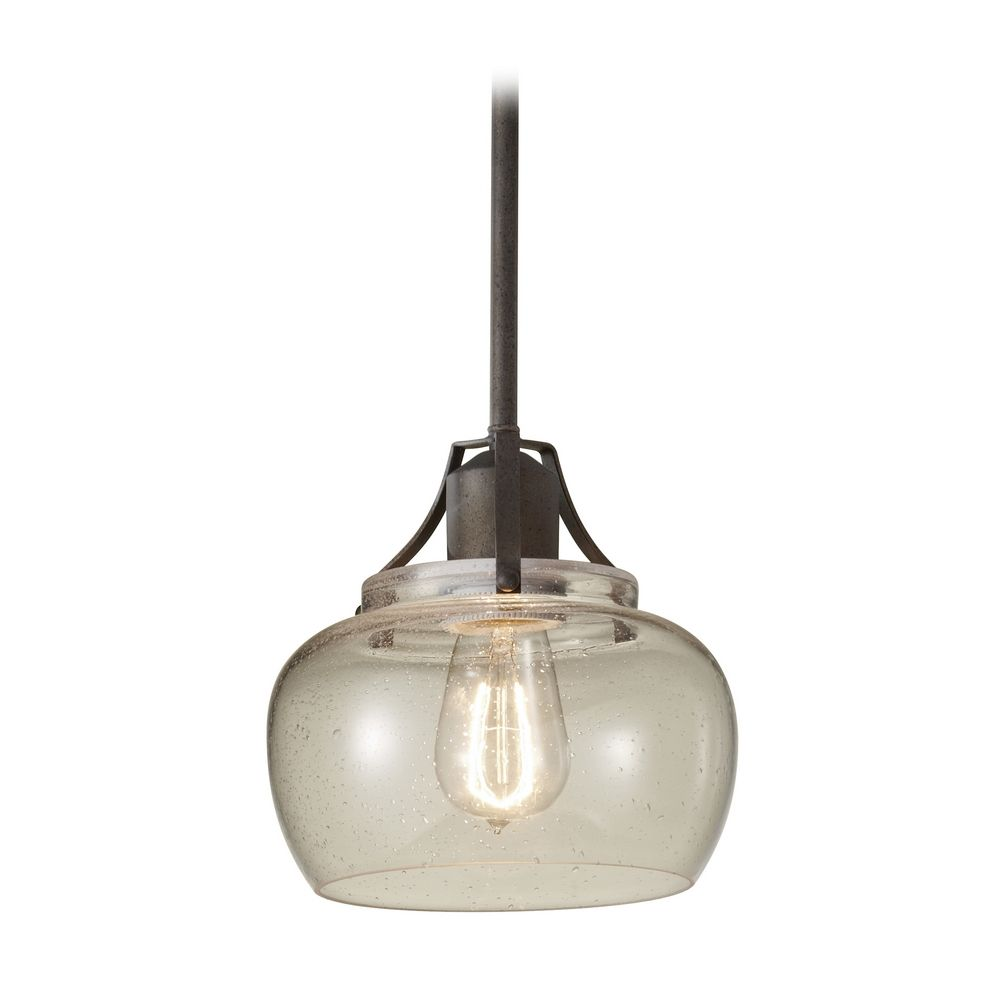 Retro Style Mini Pendant Light With Seeded Gl Shade At Destination Lighting
