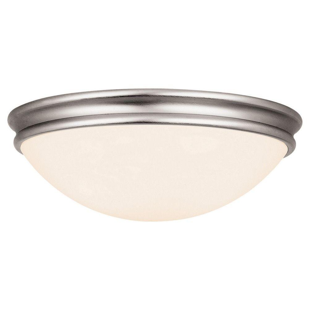 Access Lighting Atom Brushed Steel LED Flushmount Light