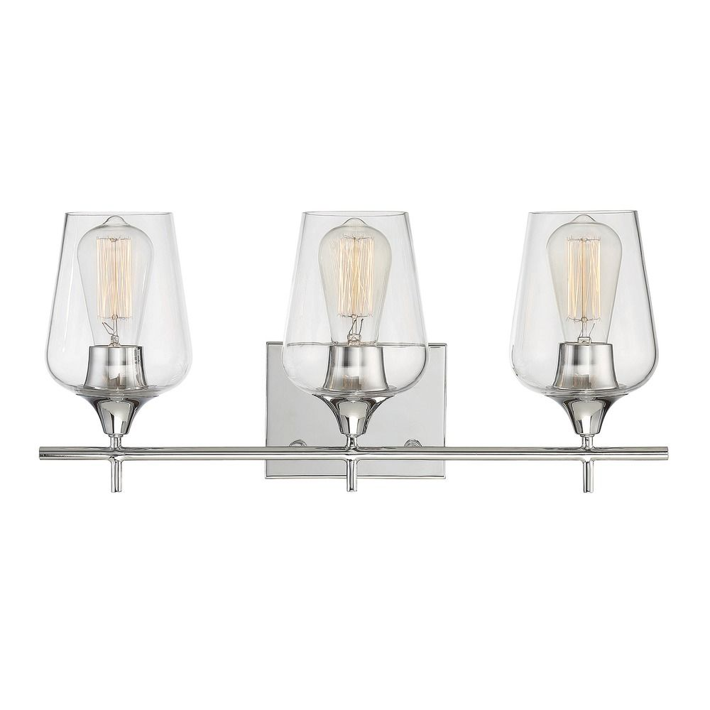 Savoy House Lighting Octave Polished Chrome Bathroom Light - Savoy bathroom light fixtures