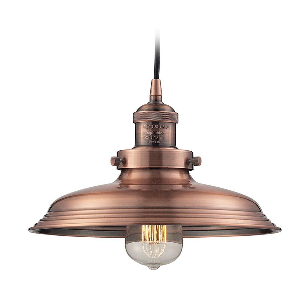 Pendant Light In Antique Copper Finish 55031 1 Destination Lighting