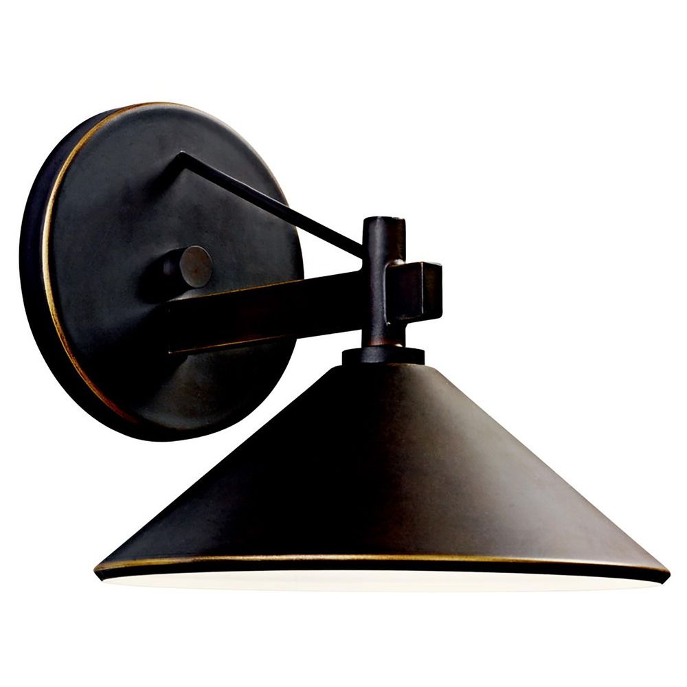 Dark Sky Wall Lights : Kichler 7-3/8-Inch Dark-Sky Compliant Outdoor Wall Light 49059OZ Destination Lighting