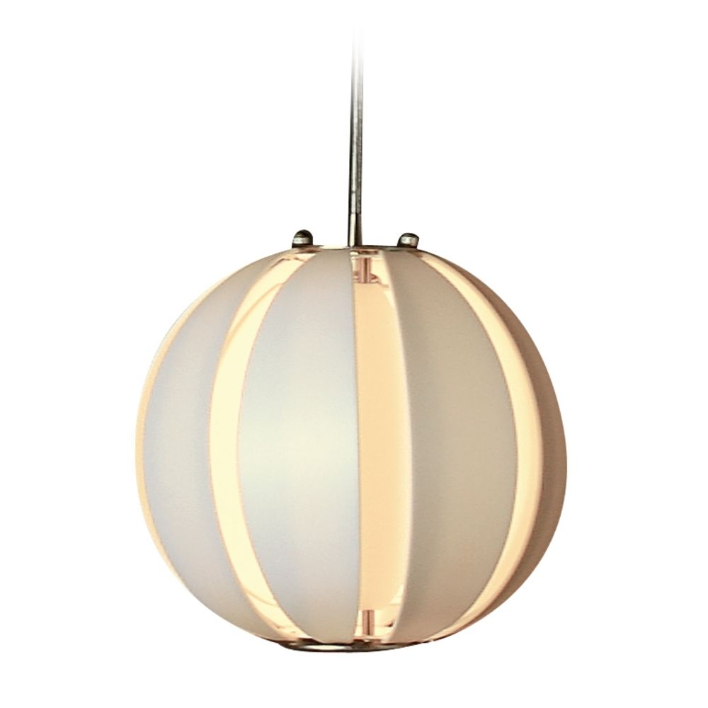 Modern pendant light with white paper shade in brushed nickel finish tp3951 w destination - Paper lighting fixtures ...