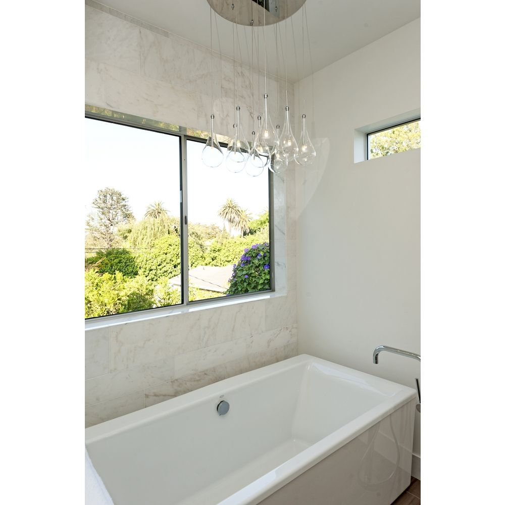 Bathroom Lights Low Voltage modern low voltage multi-light pendant light with clear glass and