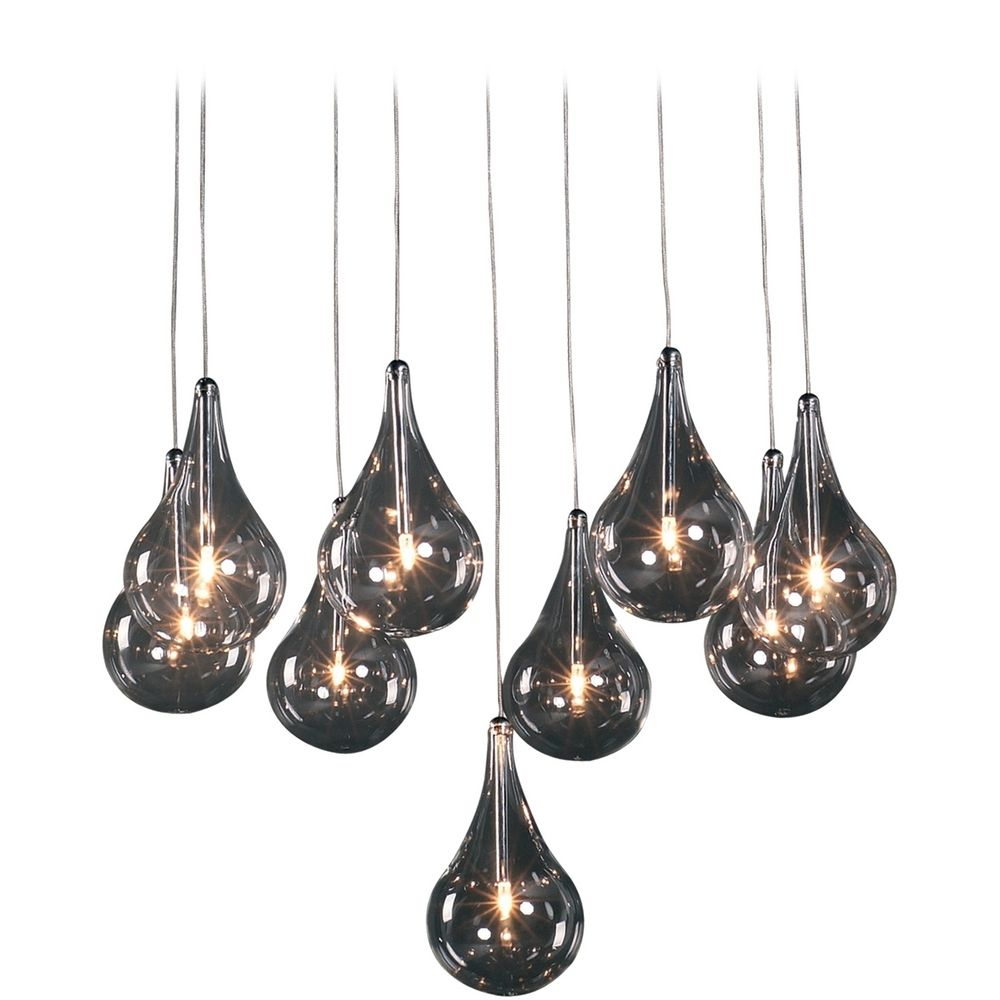 Modern low voltage multi light pendant light with clear glass and 9 product image aloadofball Images