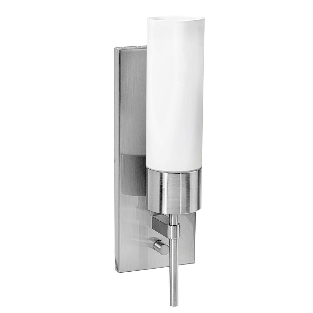 Cylindrical Wall Sconce With OnOff Switch BSOPL - Bathroom vanity light with on off switch