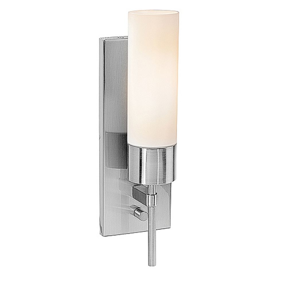 Wall Sconce With Outlet And Switch : Cylindrical Wall Sconce with On/Off Switch 50562-BS/OPL Destination Lighting