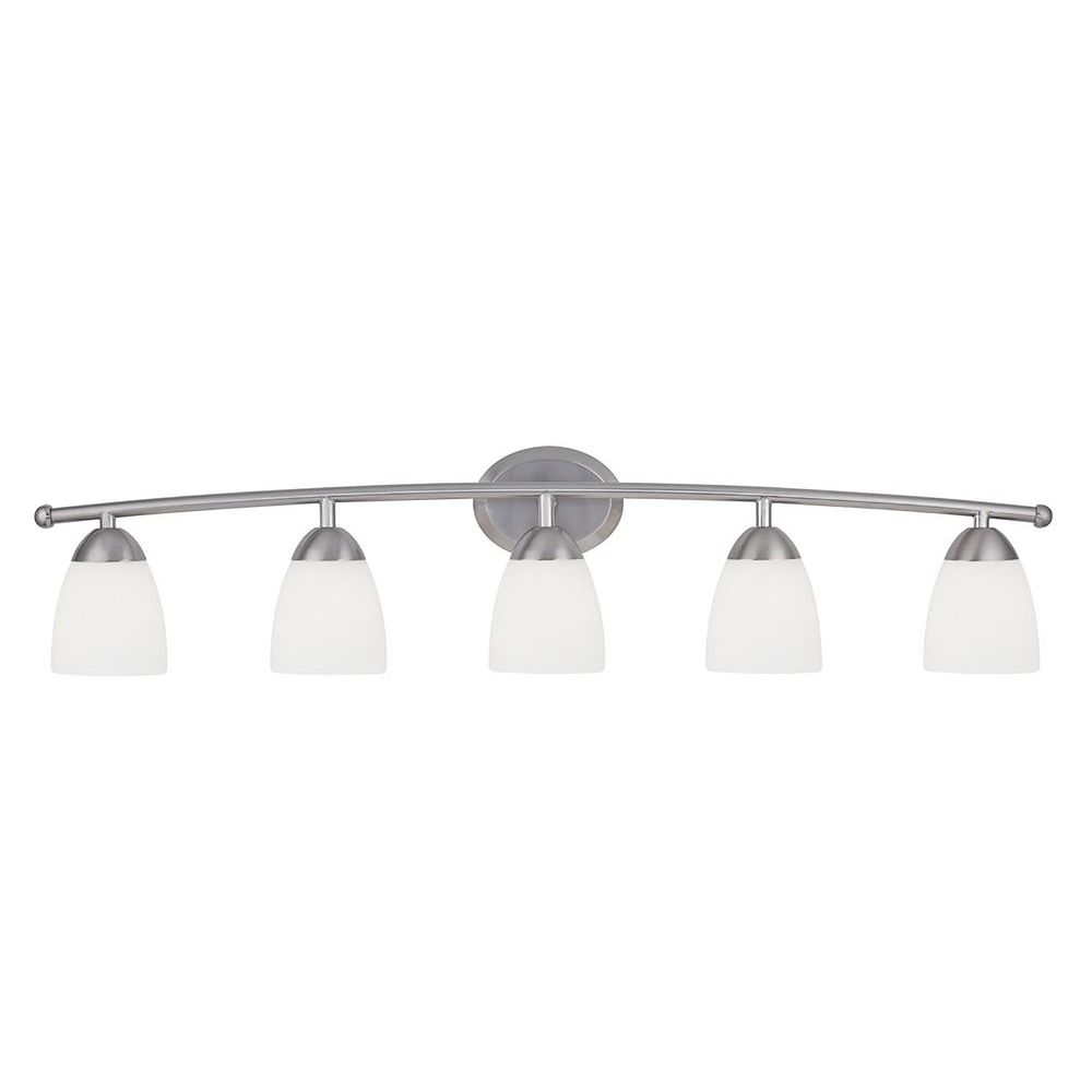 Http Www Destinationlighting Com Item Modern Bathroom Light White Glass Satin Nickel Finish 380140