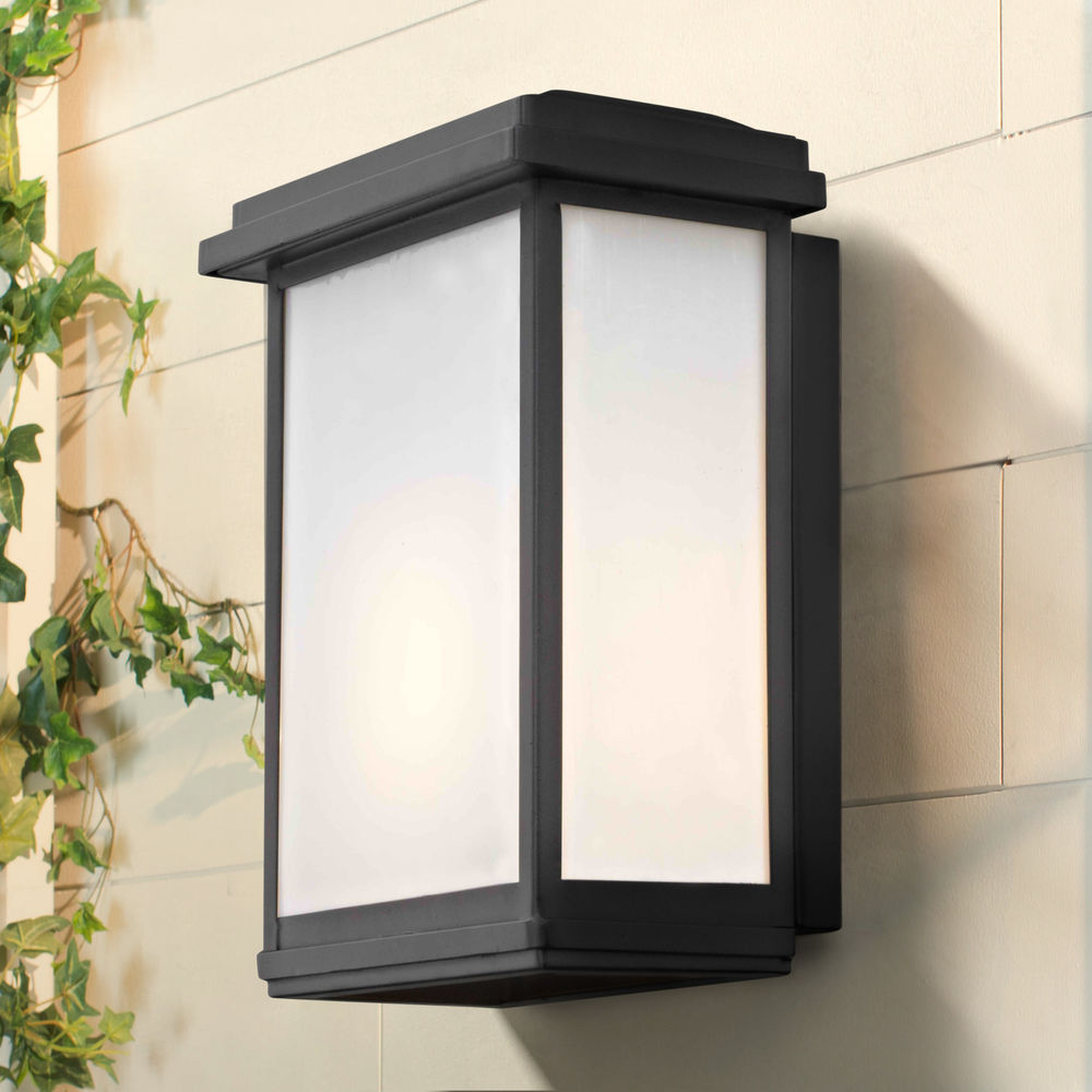 Modern Outdoor Wall Sconce Black 1743