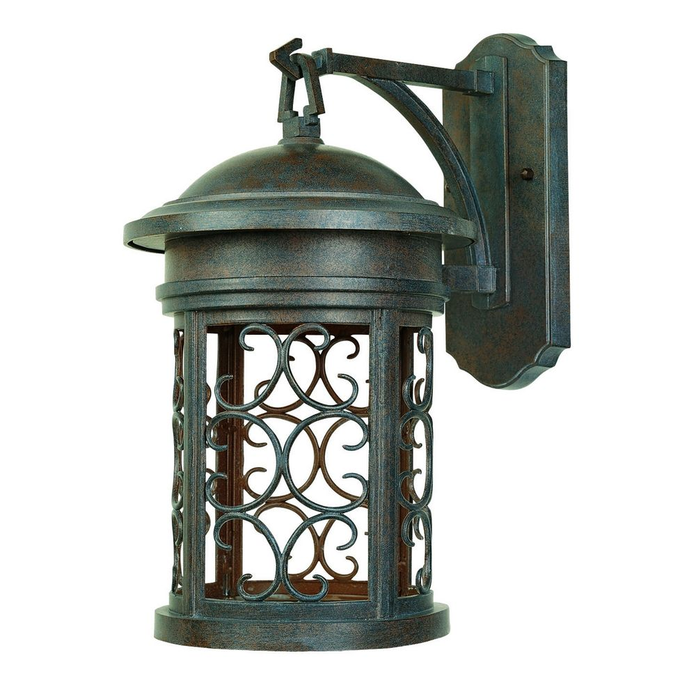 Outdoor Wall Light In Mediterranean Patina Finish 31131