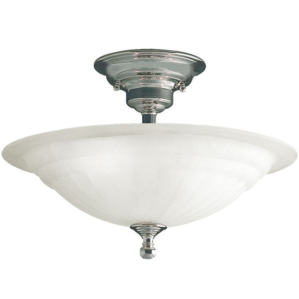 SemiFlush Ceiling Light Destination Lighting - Brushed nickel bathroom ceiling light fixtures