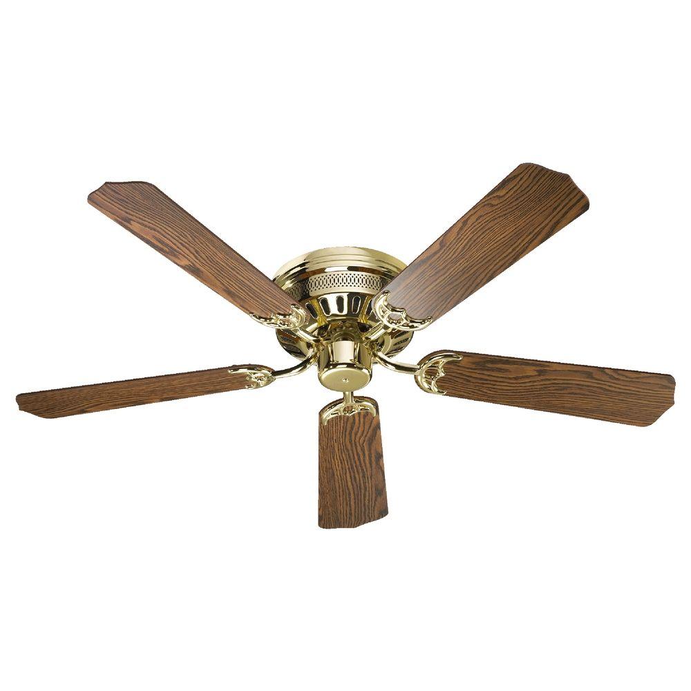 quorum lighting hugger polished brass ceiling fan without light. Black Bedroom Furniture Sets. Home Design Ideas