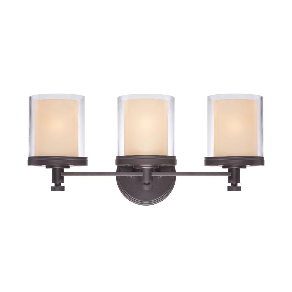 Bathroom Vanities Sudbury: Modern Bathroom Light With Beige / Cream Glass In Sudbury