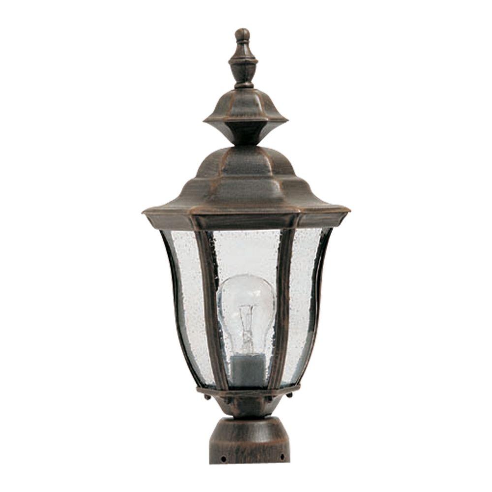 Outdoor Post Light Replacement Glass: Maxim Lighting Madrona Rust Patina Post Light