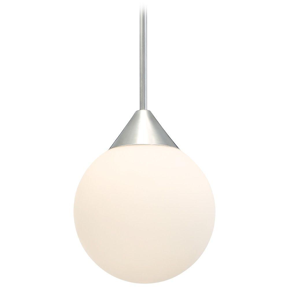 Mid Century Modern Pendant Light Chrome With Globe Shade By George Kovacs At Destination Lighting