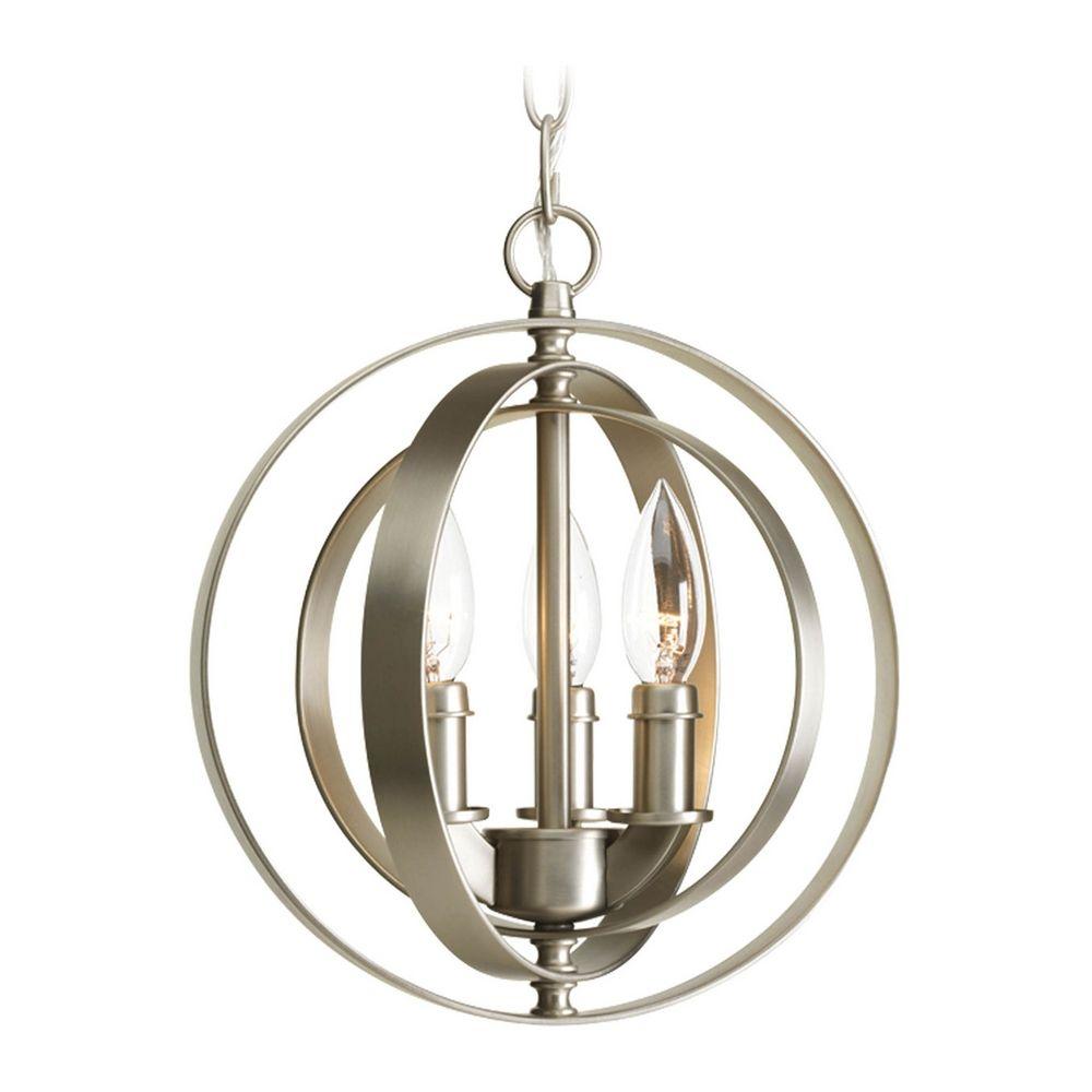Progress orb chandelier pendant light in bronze finish p3889 20 progress orb pendant light in burnished silver finish arubaitofo Choice Image