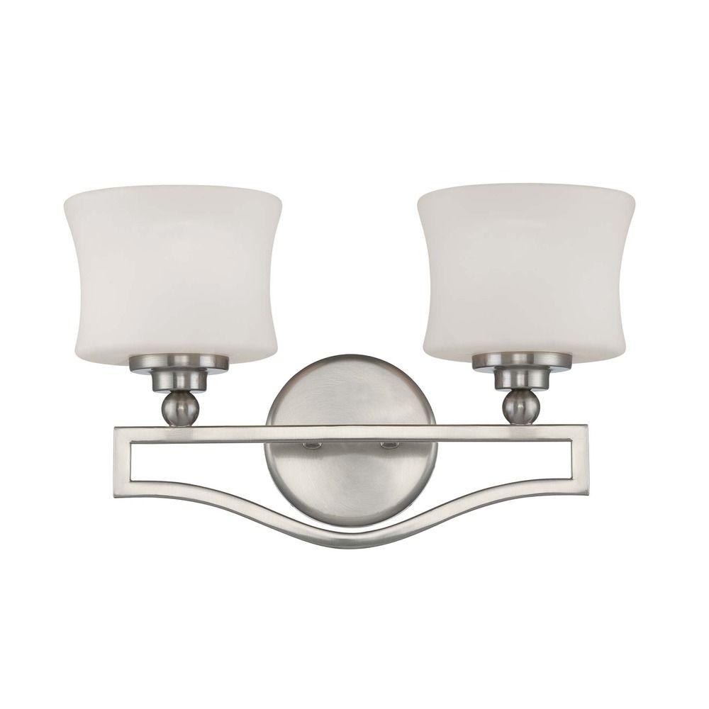 Savoy house satin nickel bathroom light 8p 7215 2 sn destination lighting for Bathroom vanity tray satin nickel