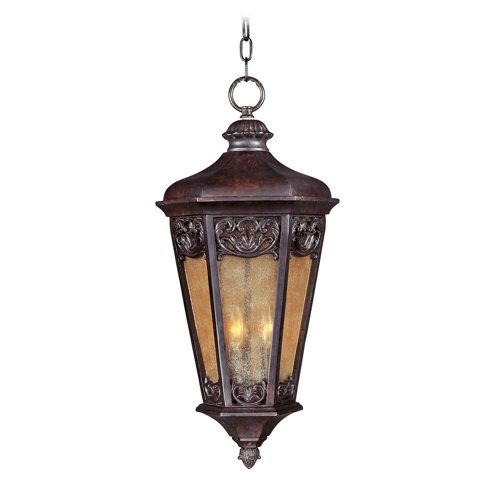 Maxim lighting lexington vx colonial umber outdoor hanging for Outdoor colonial lighting