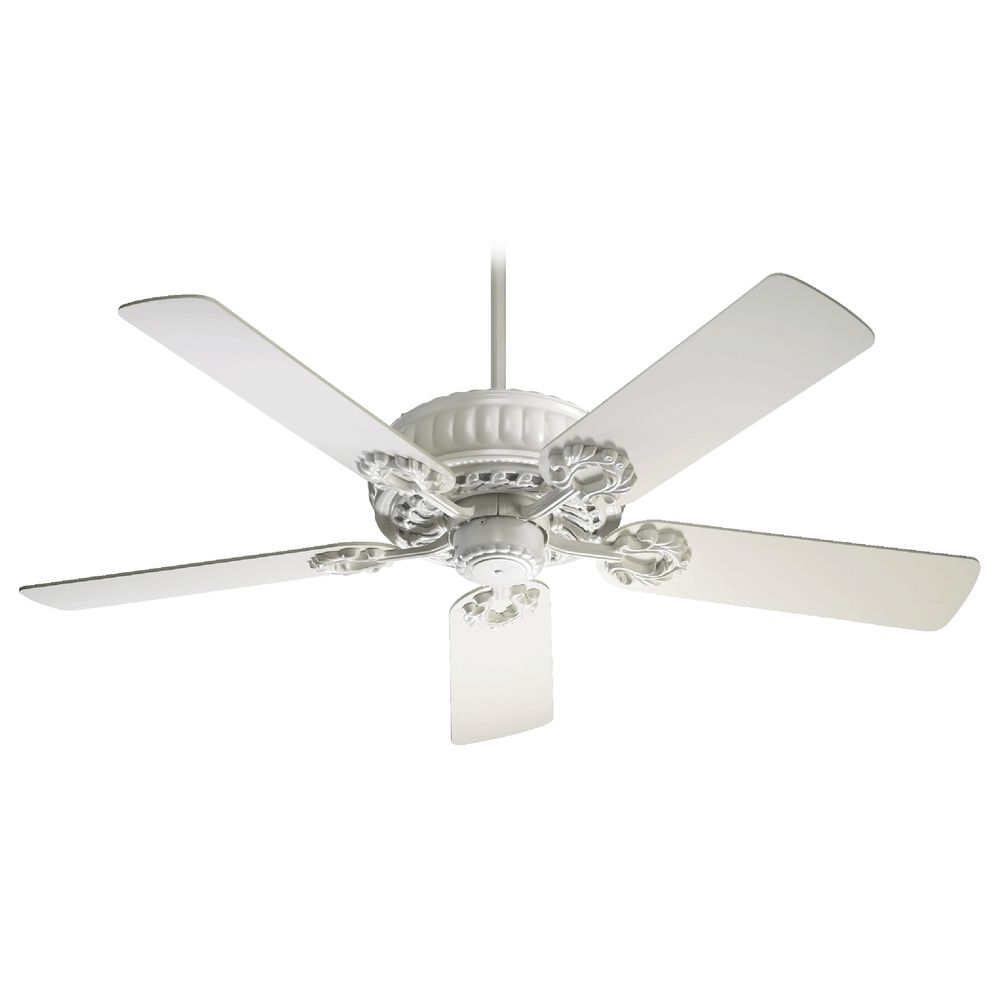 White Ceiling Lights: Quorum Lighting Empress Studio White Ceiling Fan Without