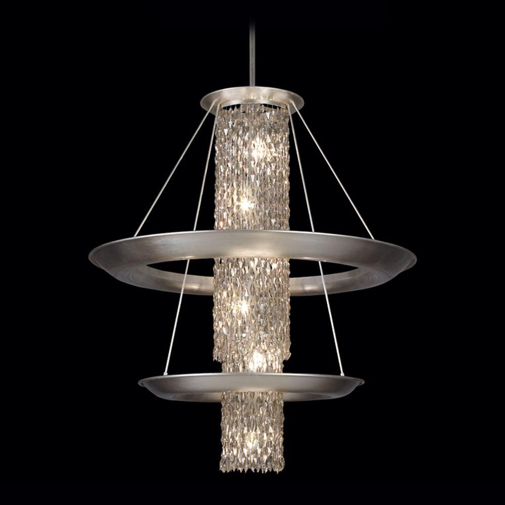 Fine Art Bathroom Lighting: Fine Art Lamps Celestial Silver-Leafed Pendant Light