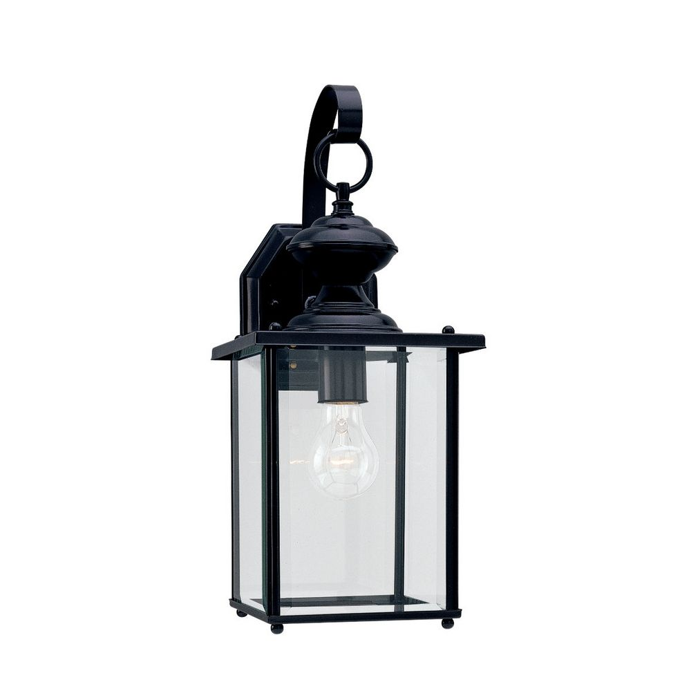 Outdoor Wall Light with Clear Glass in Black Finish 8458-12 Destination Lighting