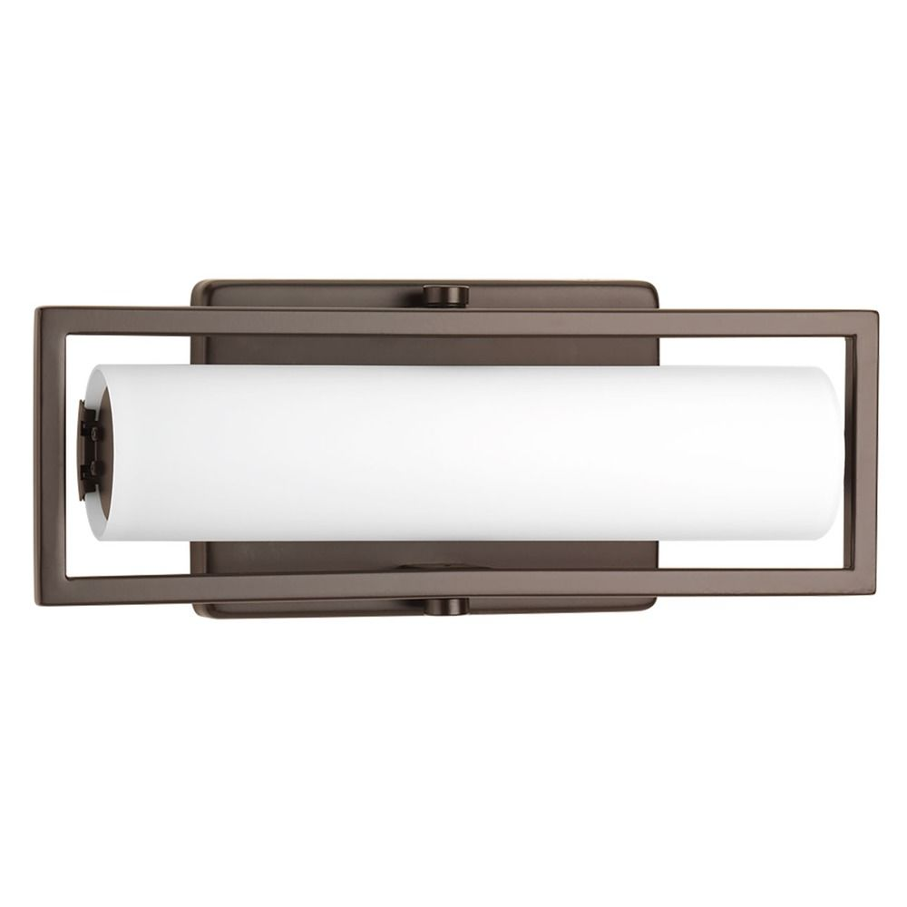 frame architectural bronze led bathroom light vertical