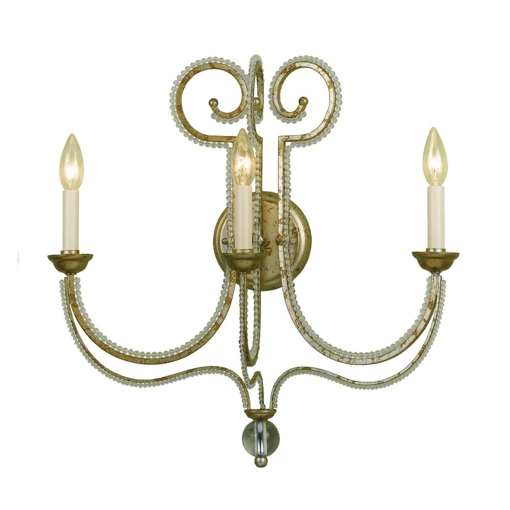 Gold Finish Wall Sconces : Sconce Wall Light in Gold Finish 6738-3W Destination Lighting