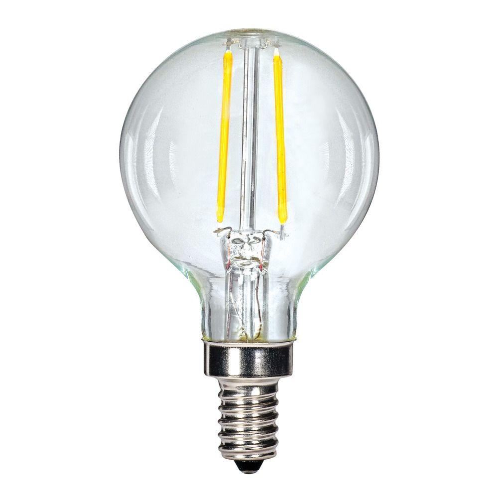 Carbon Filament Led G16 5 Candelabra Light Bulb 13 Watt