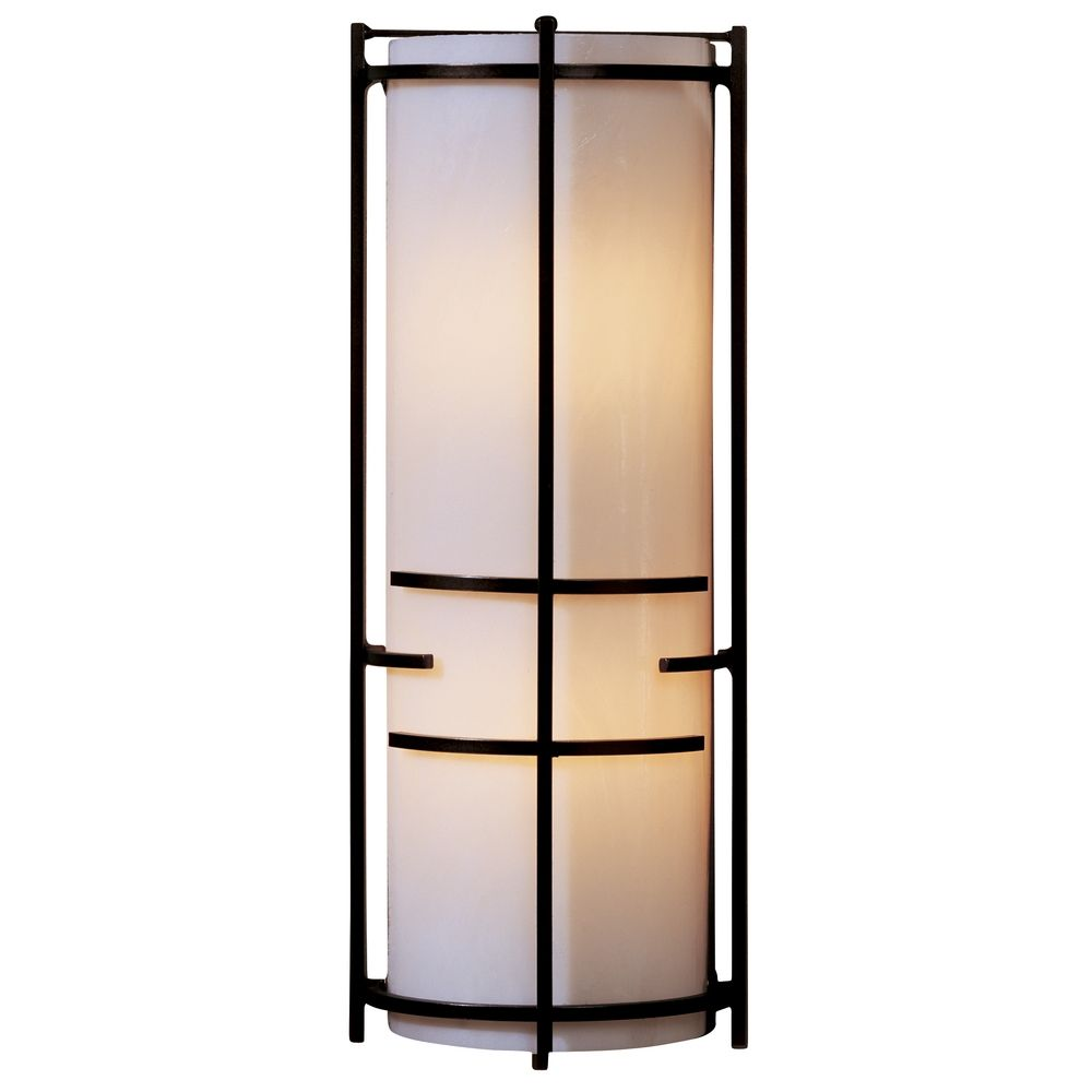 Wall Sconces Bronze Finish : Modern Sconce Wall Light with Beige / Cream Glass in Bronze Finish 205910-05-B412 ...